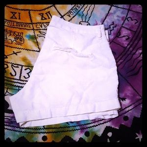 OLD NAVY OFF WHITE LINEN PINAPPLE SHORTS